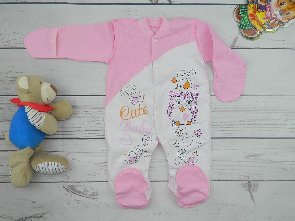 Детский комбинезон для новорожденной девочки Совушка