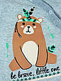 Детский слип-комбинезон с начесом Мишка, фото 2