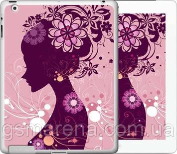 Чехол на iPad 2/3/4 Силуэт девушки