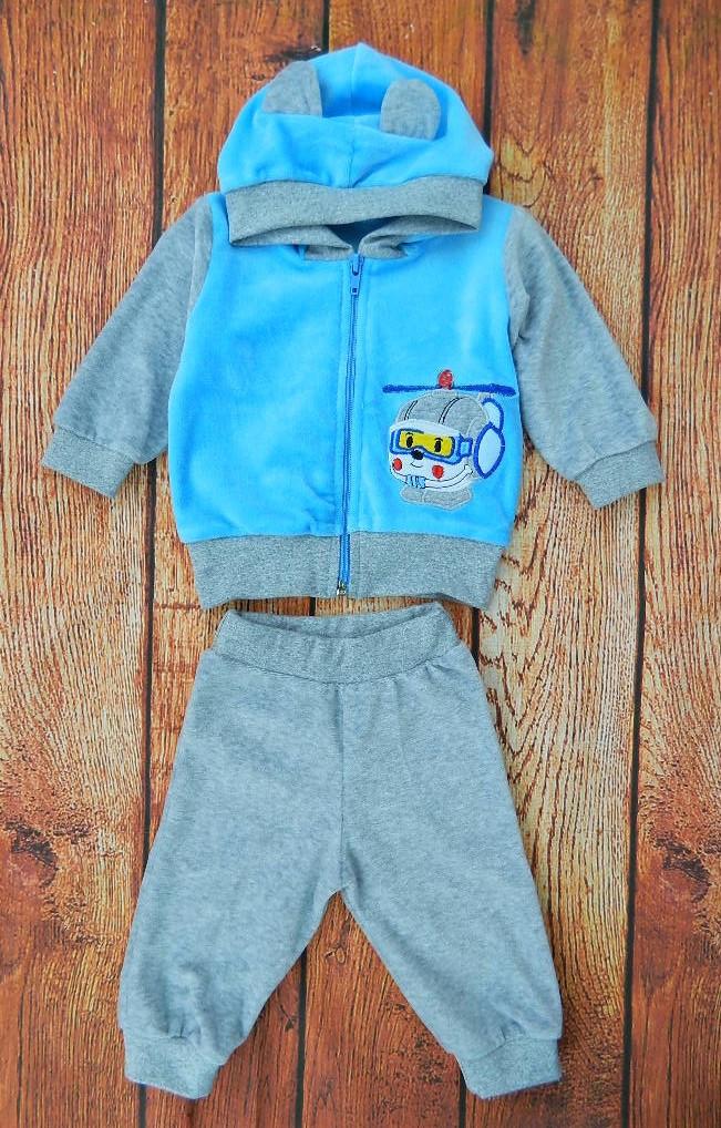 Велюровый костюм для мальчика Drygok на рост 80-86 см