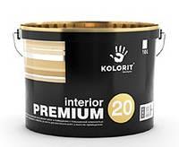 Краска противоплесневая Interior PREMIUM 20 KOLORIT, 9л
