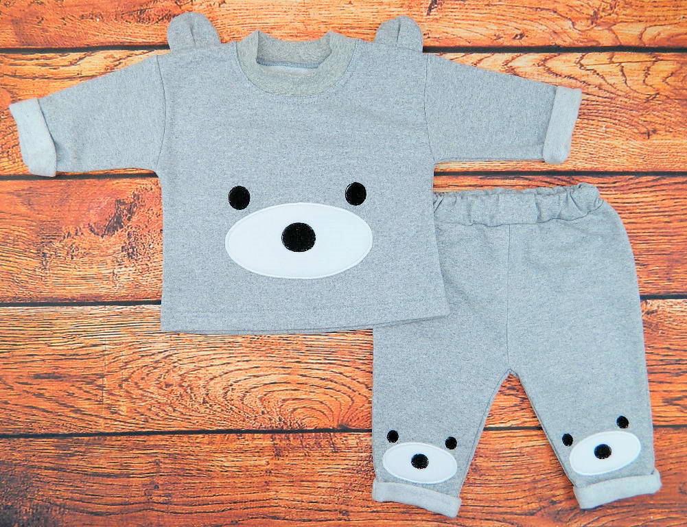 Комплект одежды для мальчика серый Курносик