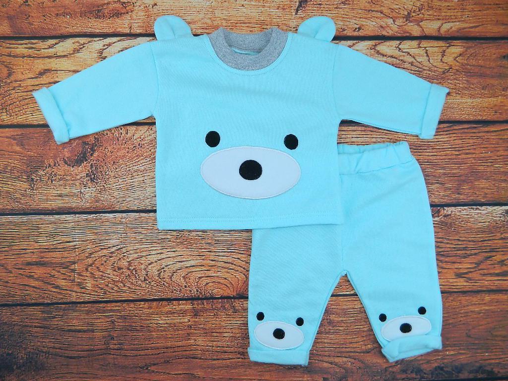 Комплект одежды для мальчика бирюзовый Курносик