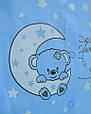 Детский человечек голубой, слип для новорожденного мальчика Луна, фото 3