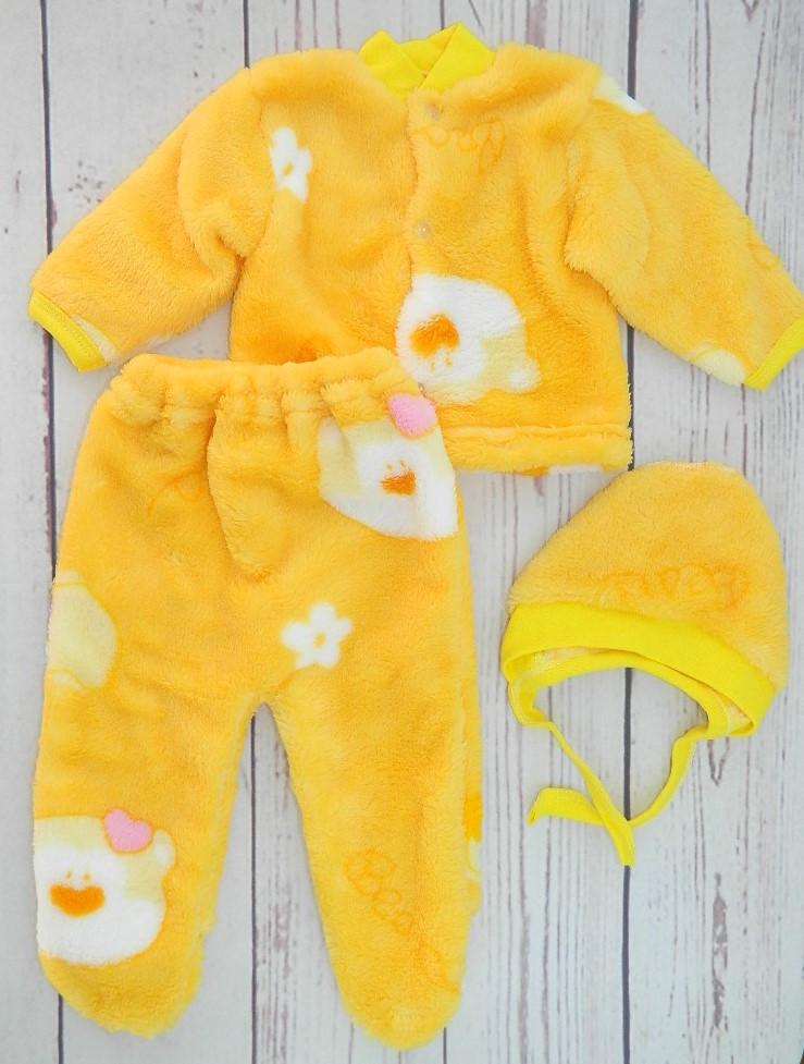 Плюшевый костюмчик для новорожденного Нежность в желтом цвете