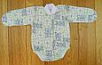 Детский бодик теплый с начесом, зеленый на рост 50-56 см, фото 3