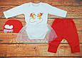 Новогодний костюм для новорожденной девочки на рост 62, 68, 74 см., Мышата, фото 2