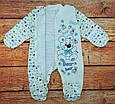 Теплый человечек для новорожденного мальчика Лапки, фото 4