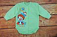 Детский боди тёплый с начесом Зеленый, фото 2