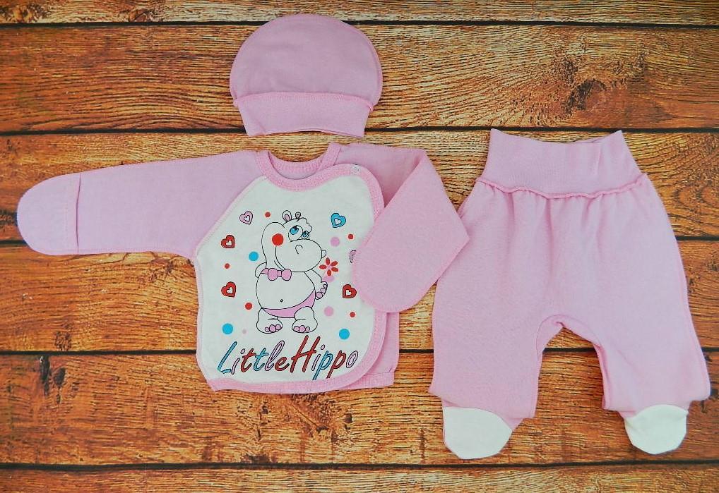 Комплект для новорожденной девочки на выписку Карусель розовый
