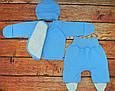 Комплект для новорожденного мальчика, ткань с начёсом, фото 5