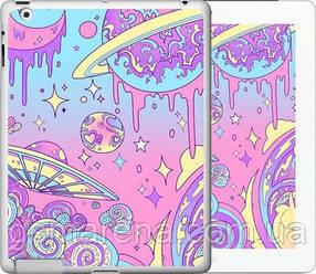 Чехол на iPad 2/3/4 Розовая галактика