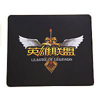 Коврик для мыши ZBS Q7 League of legends Logo M Black Yellow (18411)