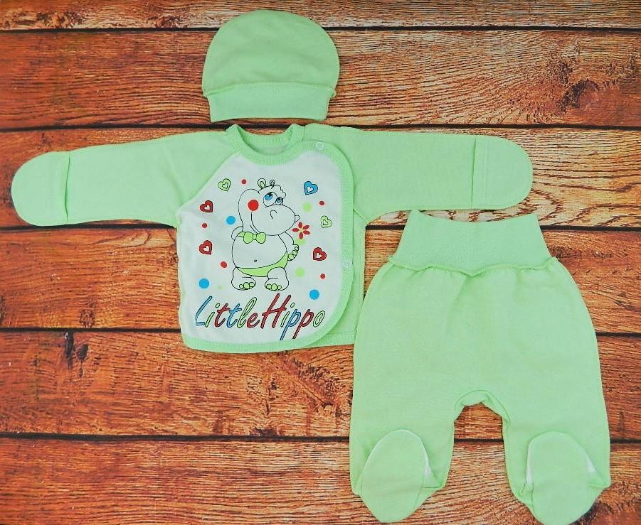 Комплект для новорожденного на выписку Карусель зеленый