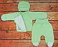 Комплект для новорожденного на выписку Карусель зеленый, фото 2