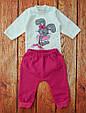 Детский костюмчик с начесом для девочки: боди под горло и штанишки Дана, фото 2