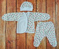 Комплект на выписку для новорожденной девочки Красные вишни