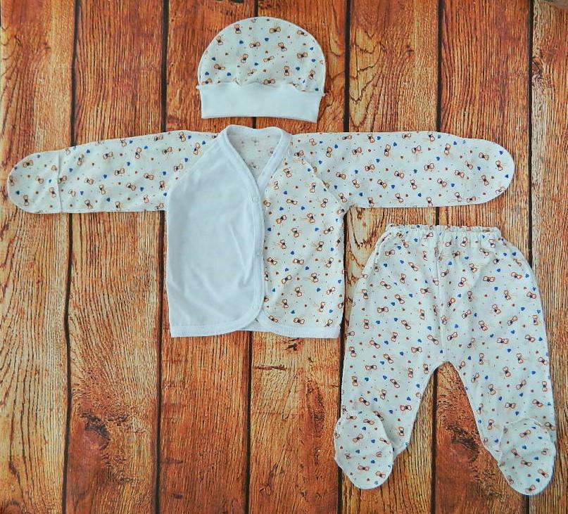 Комплект на выписку для новорожденной девочки Бантики