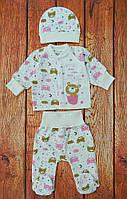 Теплый набор одежды для новорожденной девочки 3 предмета