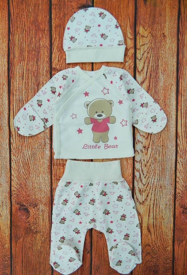 Теплый комплект одежды для новорожденной девочки, код 2523
