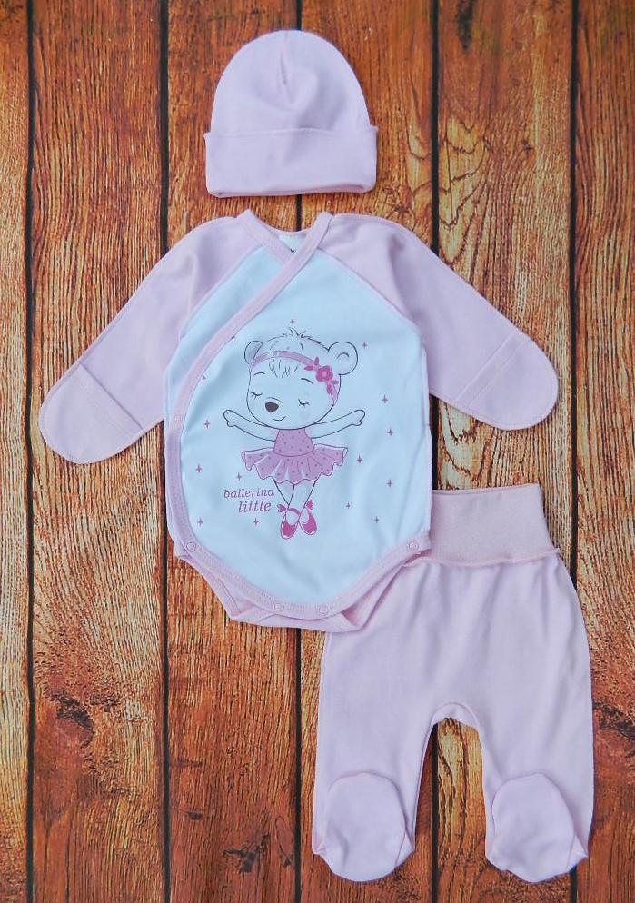 Костюмчик для новорожденной девочки: боди, ползунки, шапочка Балерина