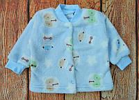 Ясельная кофта махровая на кнопках для мальчика