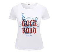 Футболка ROCK HARD женская белая