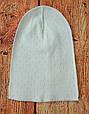 Шапочка тонкая для новорожденных Молочная, фото 2