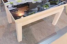 Кухонный стол трансформер Флай со стеклом Fn, белый, фото 2
