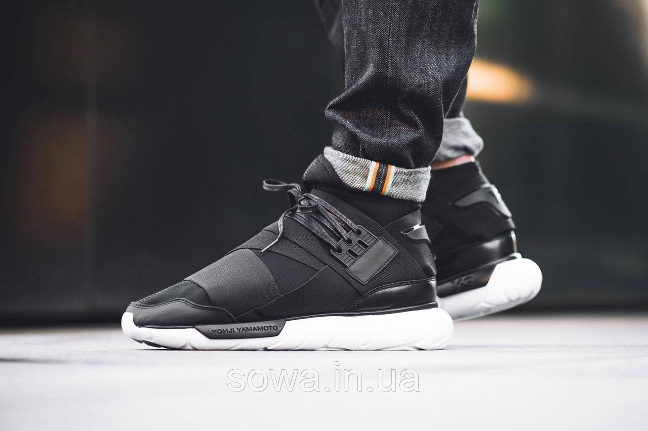 "✔️ Кроссовки Adidas Y-3 Qasa High ""Core Black/White"""