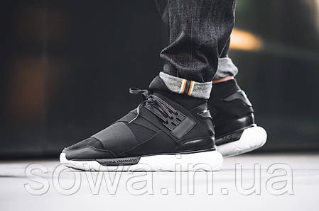 "✔️ Кроссовки Adidas Y-3 Qasa High ""Core Black/White"" , фото 2"