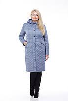 Длинное стеганное Пальто большого размера демисезонное женское 48-60 коллекция 2017, фото 2