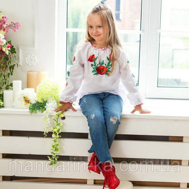 Вышиванка для девочки Маковая роса  от  7 до  13 лет