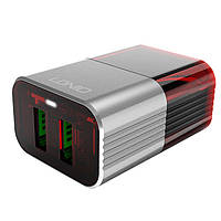Сетевое зарядное устройство LDNIO A2206 Lightning Gray (A2206), фото 1