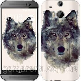 Чехол на HTC One M8 Волк-арт