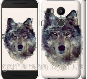 Чехол на LG Nexus 5X H791 Волк-арт