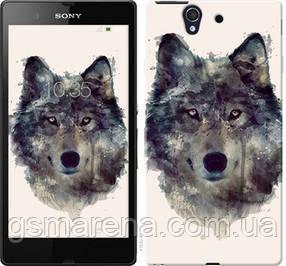 Чехол на Sony Xperia Z C6602 Волк-арт