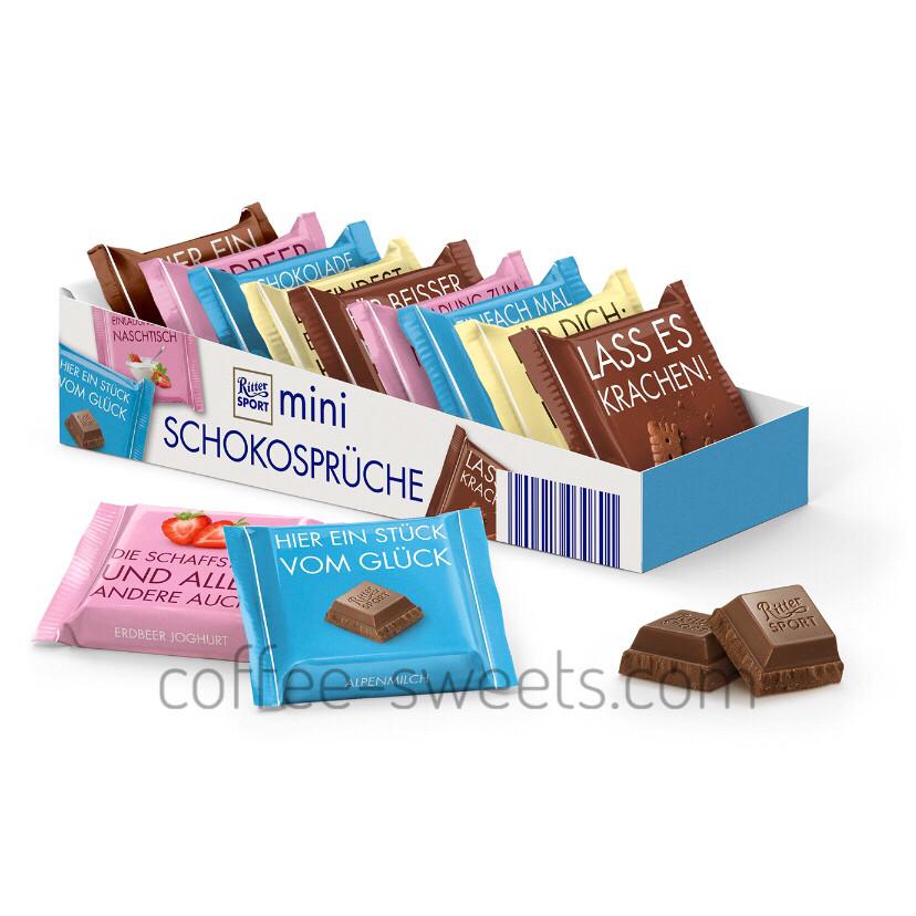 Шоколад Ritter Sport mini Schokosprüche 150г ( 9*16,67 )