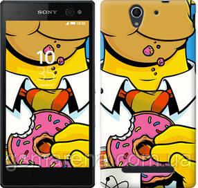 Чехол на Sony Xperia C3 D2502 Гомер с пончиком
