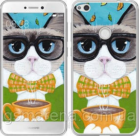Чехол на Huawei P8 Lite (2017) Cat&Coffee
