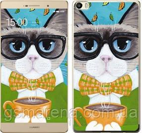 Чехол на Huawei P8 Max Cat&Coffee