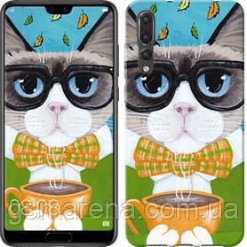 Чехол на Huawei P20 Pro Cat&Coffee