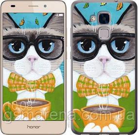 Чехол на Huawei Honor 5C Cat&Coffee