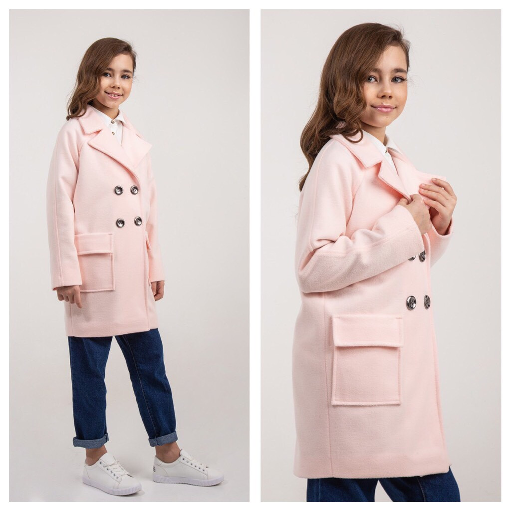 Пальто весна на девочку  пудра Naila Brilliant (Украина) размеры  140 164