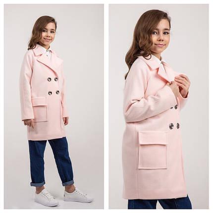 Пальто весна на девочку  пудра Naila Brilliant (Украина) размеры  140 164, фото 2