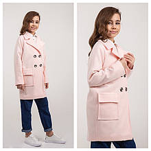 Пальто весна на девочку  пудра Naila Brilliant (Украина) размеры  134 140 146 152 158 164