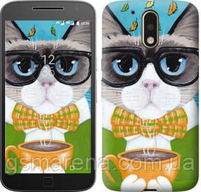 Чехол на Motorola MOTO G4 PLUS Cat&Coffee