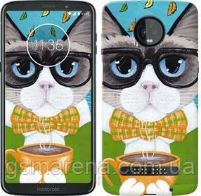 Чехол на Motorola Moto Z3 Play Cat&Coffee