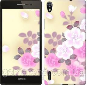 Чехол на Huawei Ascend P7 Японские цветы