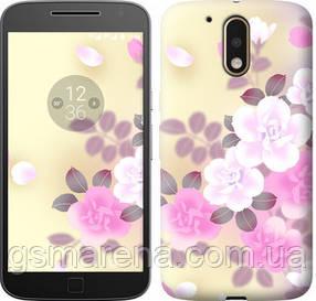 Чехол на Motorola MOTO G4 PLUS Японские цветы